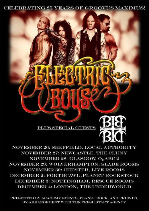 Electric Boys Groovus Maximus 25 UK Tour