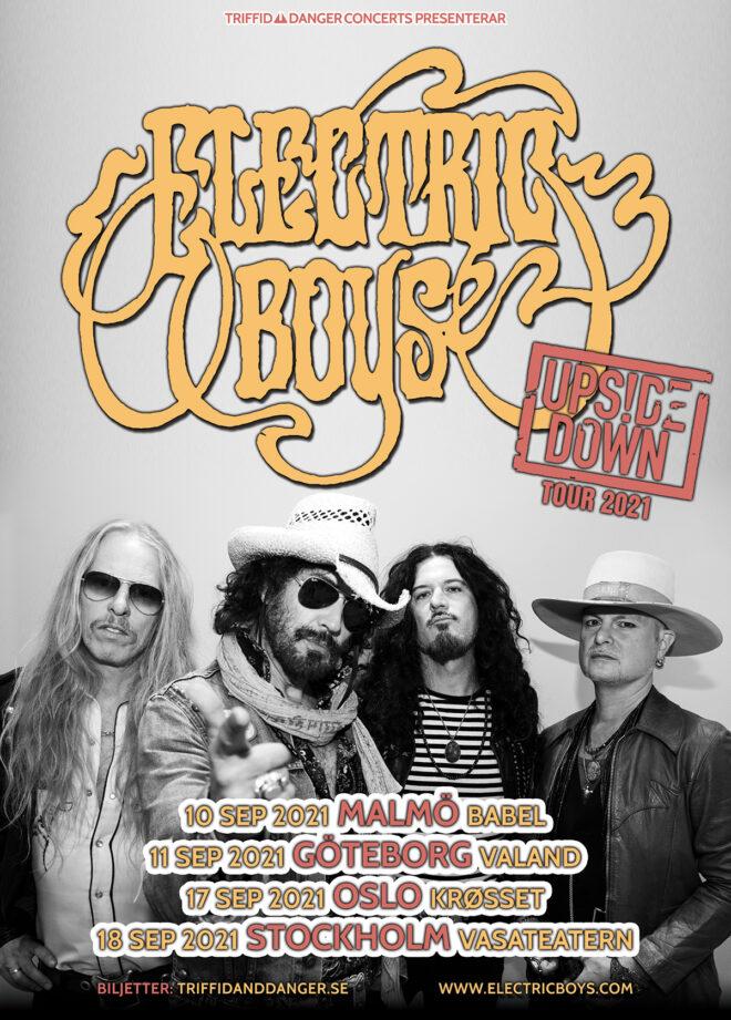 Electric Boys Upside Down tour September 2021